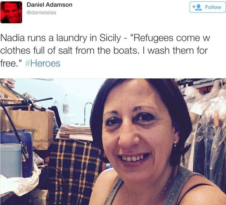 Nadia gestisce una lavanderia in Sicilia: lava i vestiti ai rifugiati gratuitamente