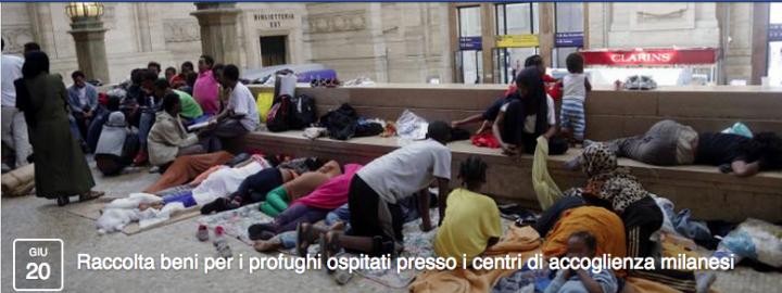 La raccolta beni per i profughi a Milano organizzata su Facebook