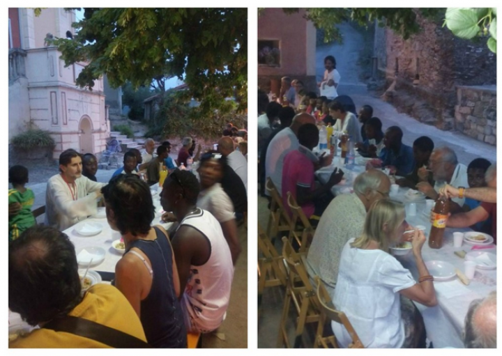 Bellissimi di Dolcedo, la cena dell'amicizia con i migranti