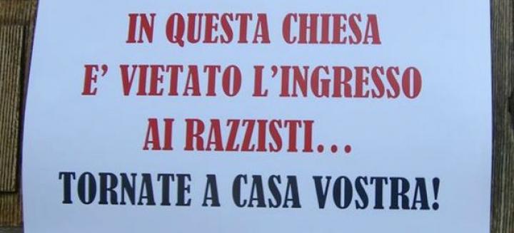 Spoleto, l'annuncio del prete: «In questa chiesa è vietato l'ingresso ai razzisti. Tornate a casa vostra»